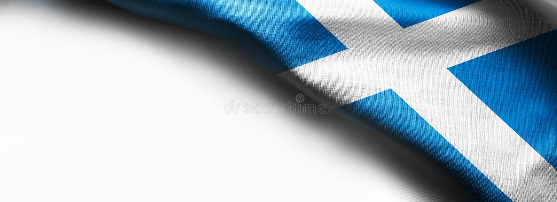 苏格兰的旗子白色背景的 免版税库存图片
