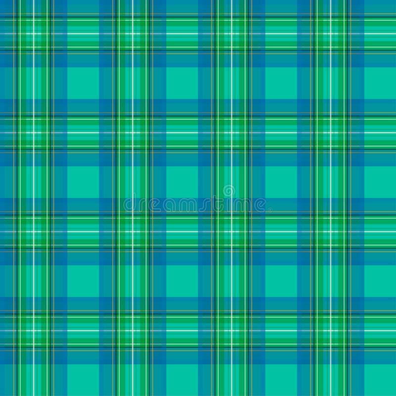 苏格兰笼子无缝的样式,绿色 青绿的无缝的样式 库存例证