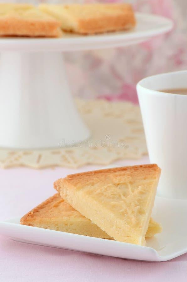 苏格兰脆饼用茶 库存照片
