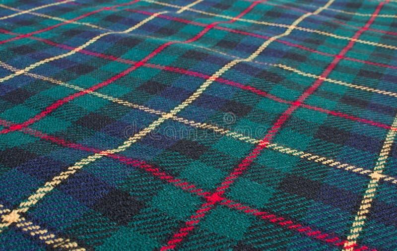 苏格兰高地格子呢织法 免版税库存图片