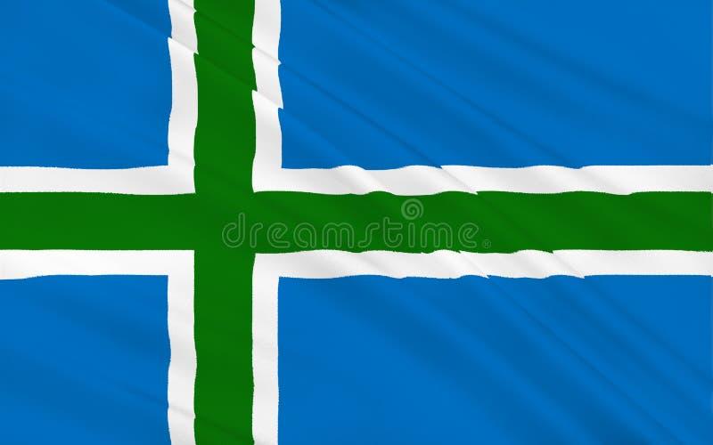 苏格兰,伟大的增殖比英国的高地理事会旗子  免版税库存照片