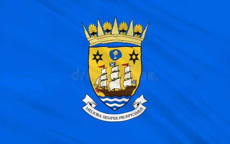 苏格兰,英国的因弗克莱德理事会旗子伟大 免版税图库摄影