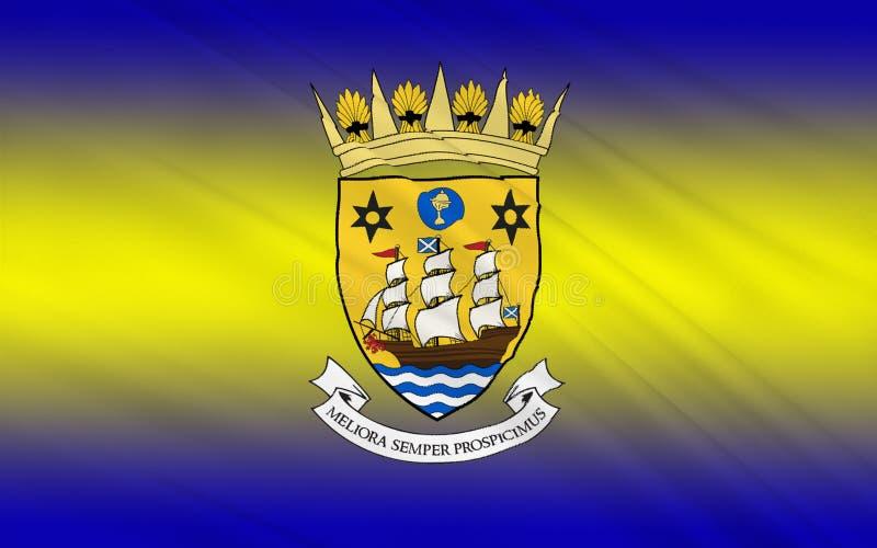 苏格兰,英国的因弗克莱德理事会旗子伟大 库存图片