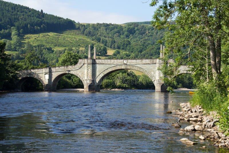 苏格兰, aberfeldy,涉过的桥梁 库存图片