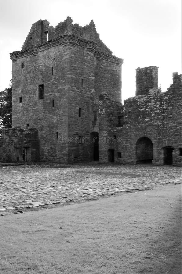 苏格兰-古老世袭的社会等级的地标在埃兹尔 免版税库存图片