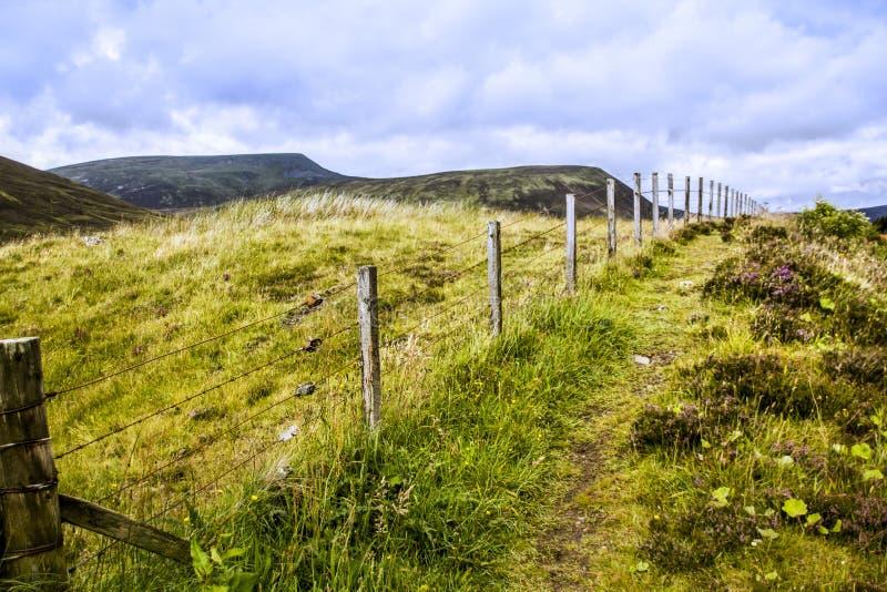 苏格兰A9路旁 免版税库存图片