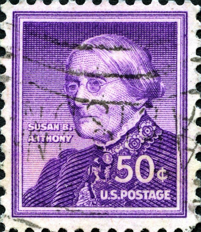 苏珊B 安东尼美国邮票 库存照片