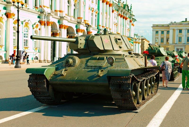 苏联中等火焰喷射器坦克OT-34 图库摄影
