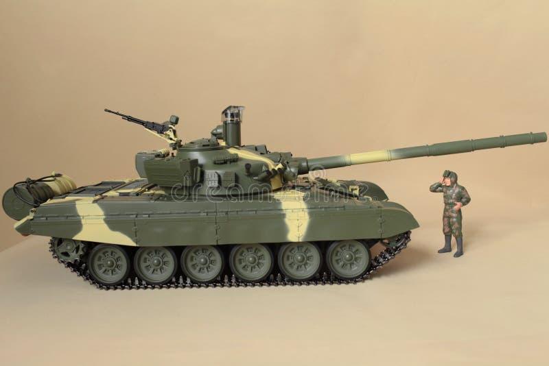 苏联坦克T-72侧视图 免版税图库摄影