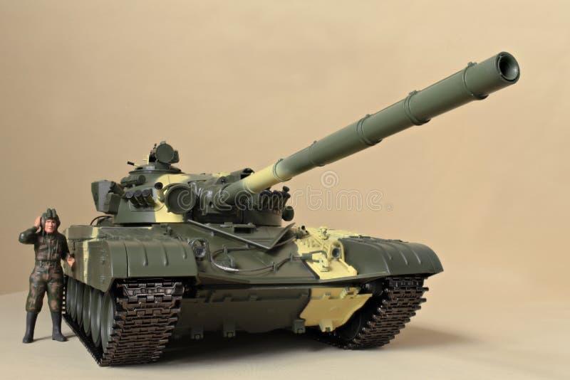 苏联坦克T-72正面图 库存图片