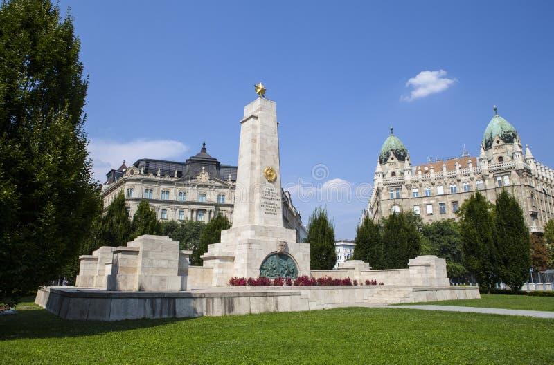 苏联战争纪念建筑在布达佩斯 免版税库存图片