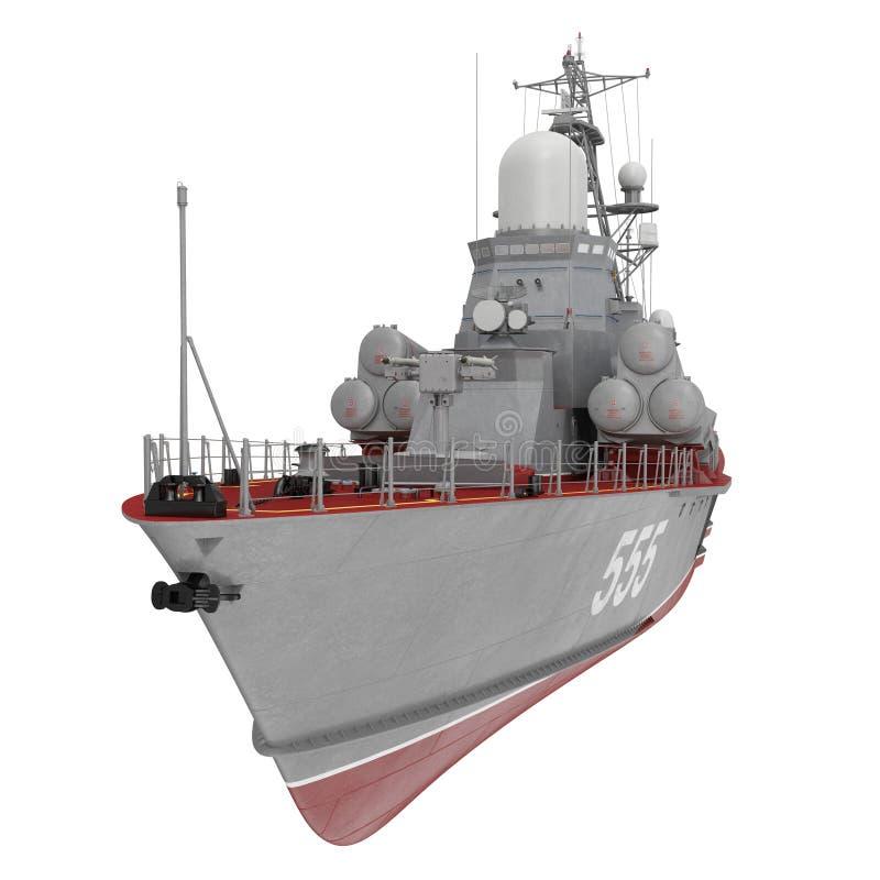 苏联海军Nanuchka类的导弹轻武装快舰在白色估计1234 3d例证 皇族释放例证