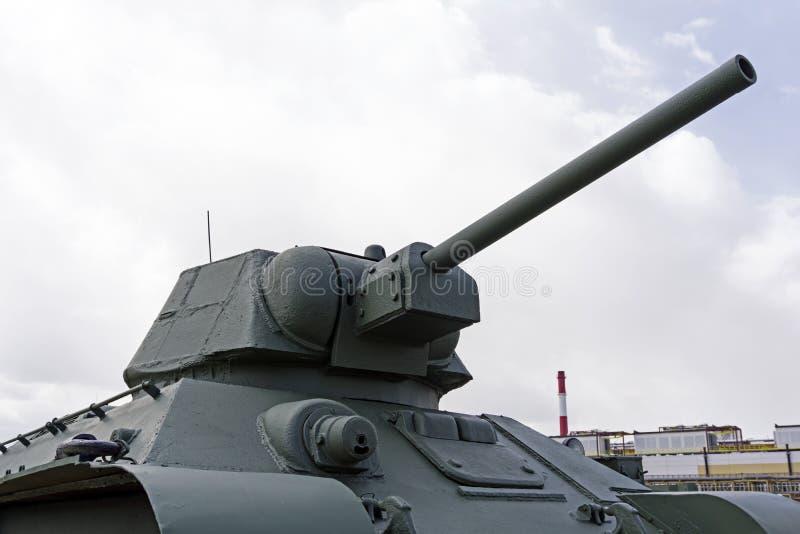 苏联火焰喷射器坦克OT-34-76模型1942年在军用设备博物馆  免版税库存图片