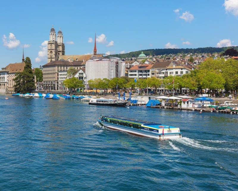 苏黎世的都市风景 免版税库存图片