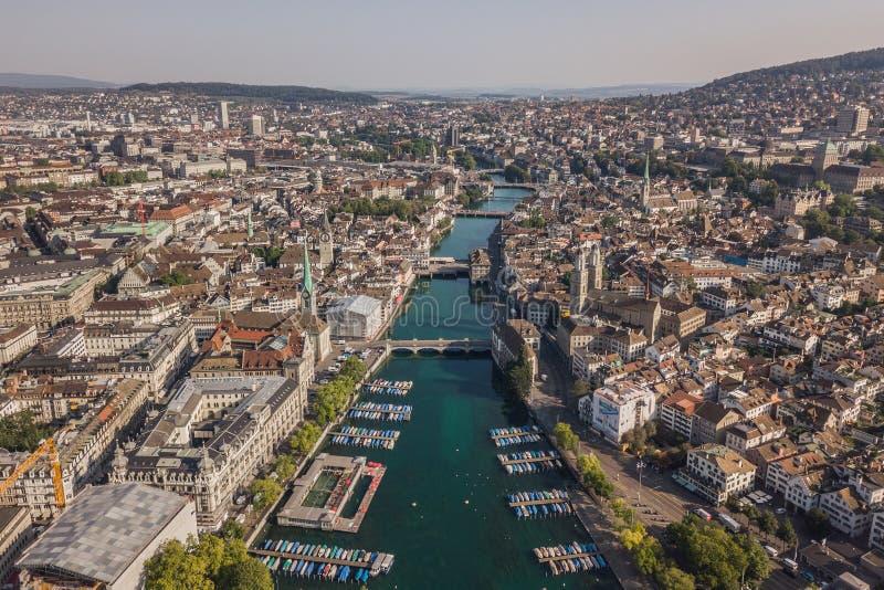 苏黎世都市风景 免版税库存图片