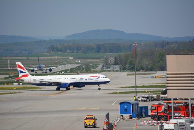 苏黎世机场在瑞士 库存图片