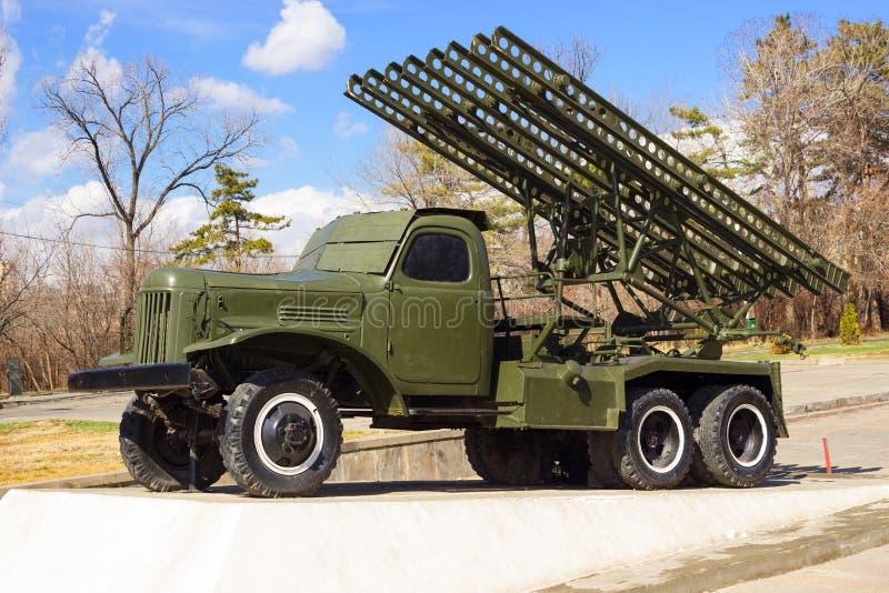 苏维埃卡秋沙火箭发射器 库存图片