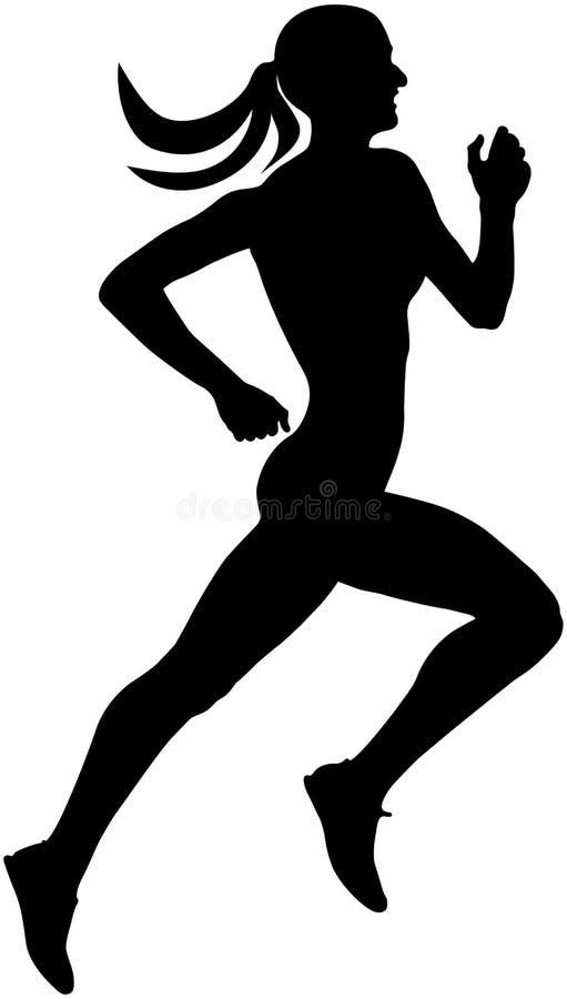 苗条母赛跑者 向量例证