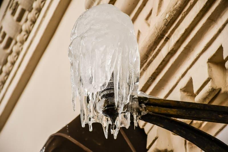 苛刻的俄国冬天 免版税库存图片