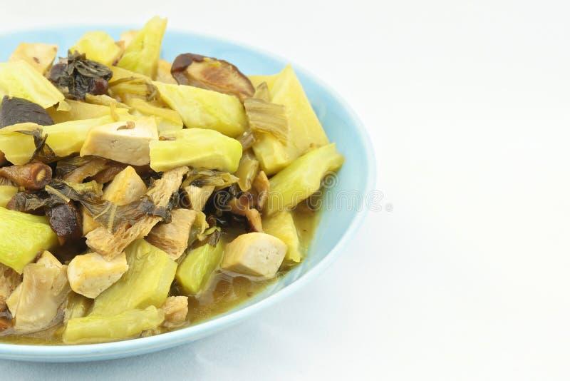 苦涩金瓜油煎的腌汁 免版税库存照片