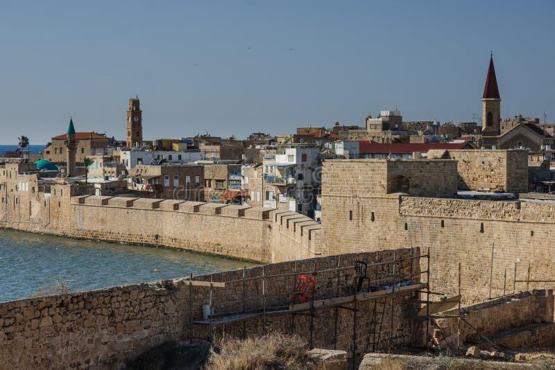 英亩耶路撒冷旧城  免版税图库摄影
