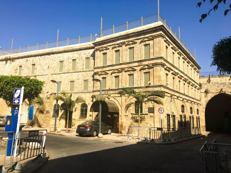 英亩,以色列- 2017年9月5日:英亩老城市的阿拉伯建筑学在以色列 免版税库存照片