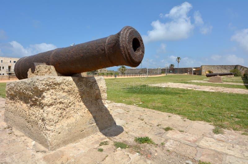 英亩Akko老市口岸-以色列 免版税图库摄影