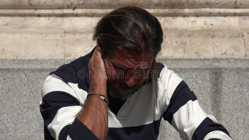 英俊男性单独 免版税库存图片