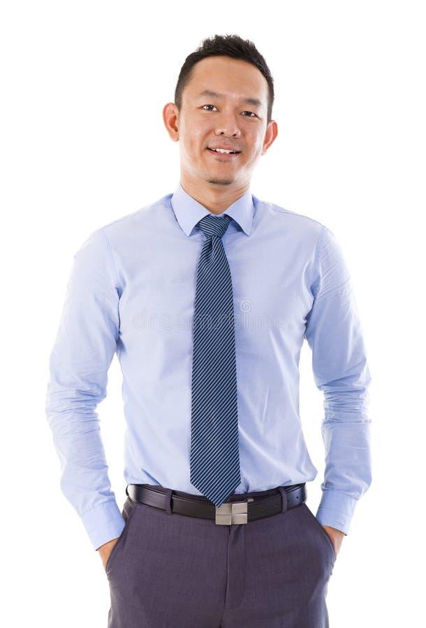 英俊的亚洲生意人 免版税库存图片