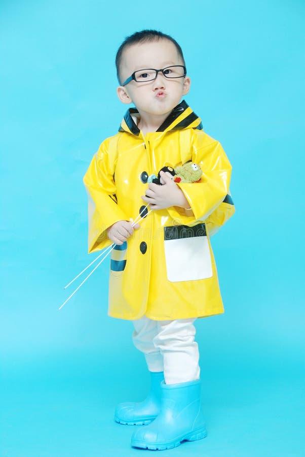 英俊的亚裔男孩 免版税库存图片