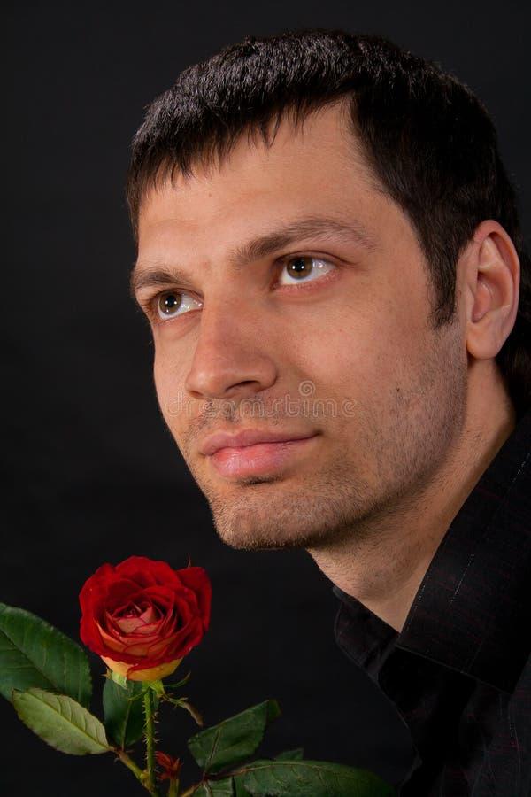 英俊的人纵向年轻人 免版税图库摄影
