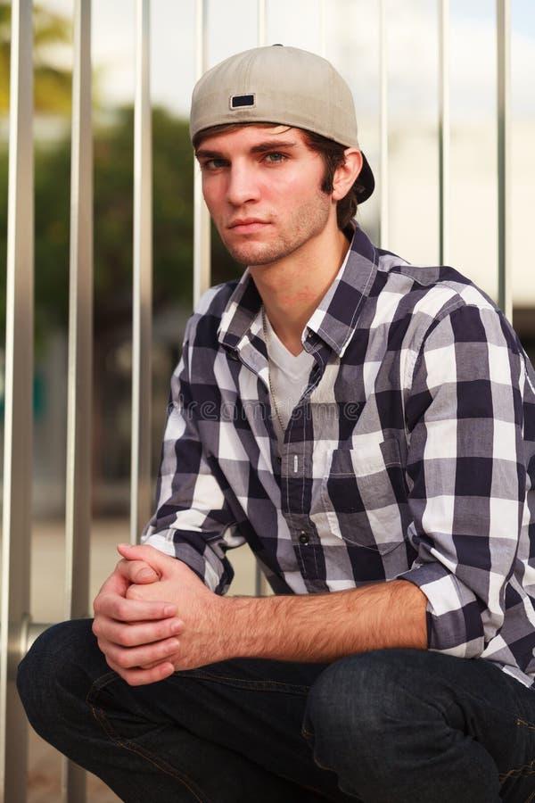 英俊的人年轻人 图库摄影