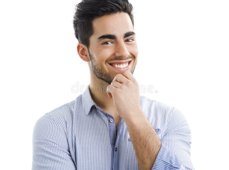 英俊的人年轻人 免版税库存图片