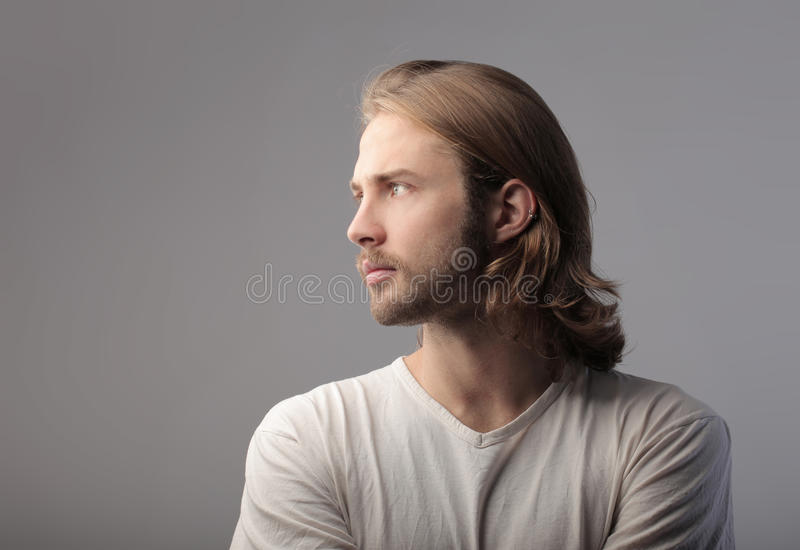 英俊的人 免版税库存照片