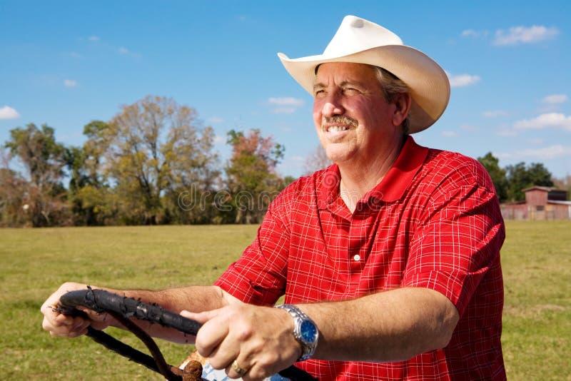 英俊的农夫 免版税库存图片