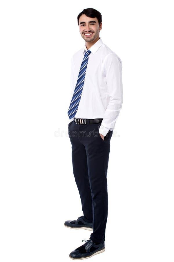英俊的商业主管画象  免版税库存照片