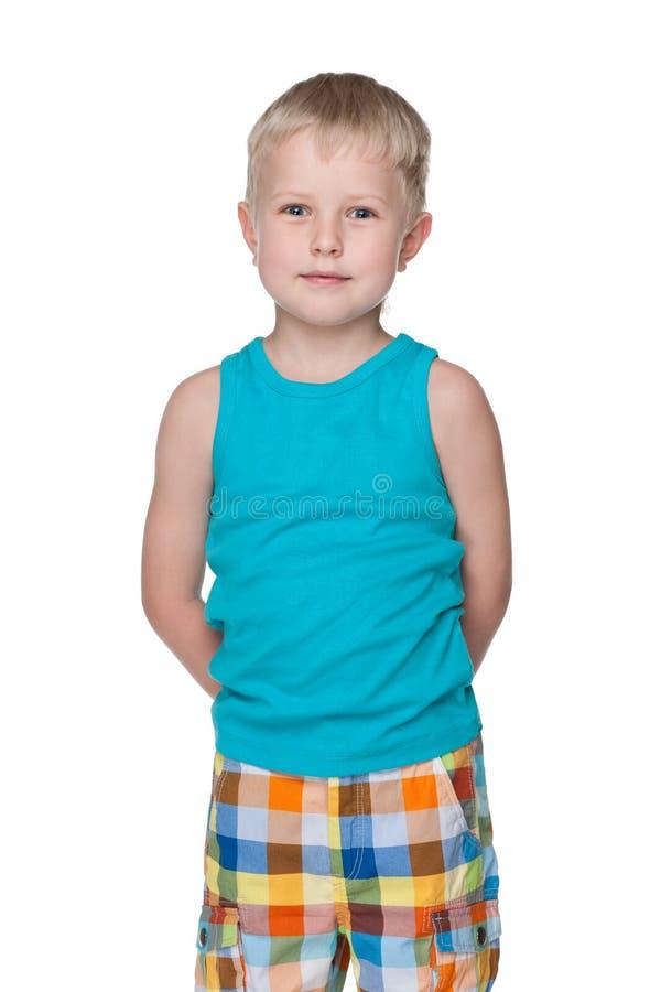 英俊的时尚年轻人男孩 库存照片