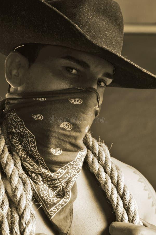 英俊的牛仔