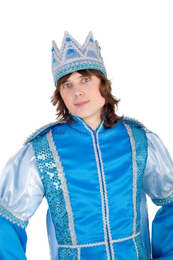 英俊的王子年轻人 免版税库存照片