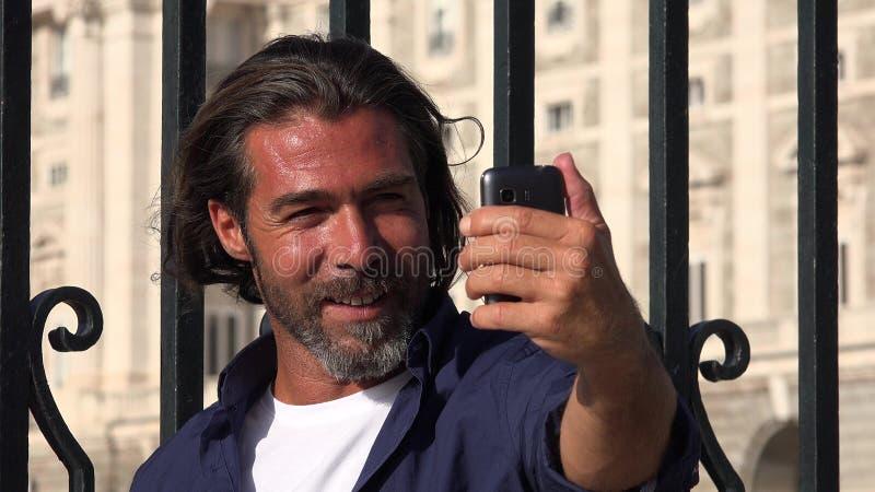 英俊的男性Selfy 图库摄影