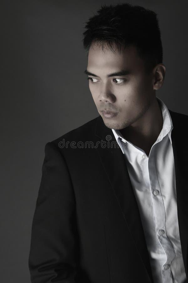 英俊的菲律宾人的画象 免版税库存照片
