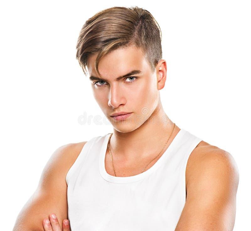 英俊的运动年轻人 库存照片