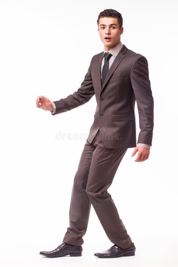 英俊的年轻商人有在衣服的运气 库存图片