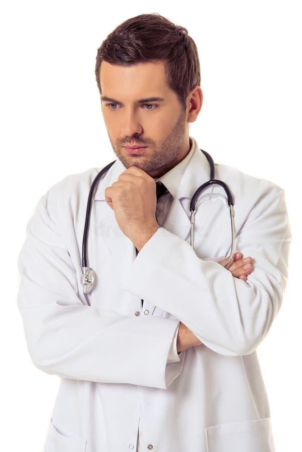 英俊的医生 免版税库存图片