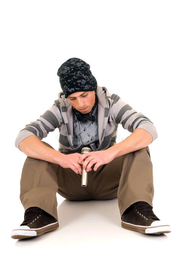 英俊的Hip Hop年轻人 免版税图库摄影