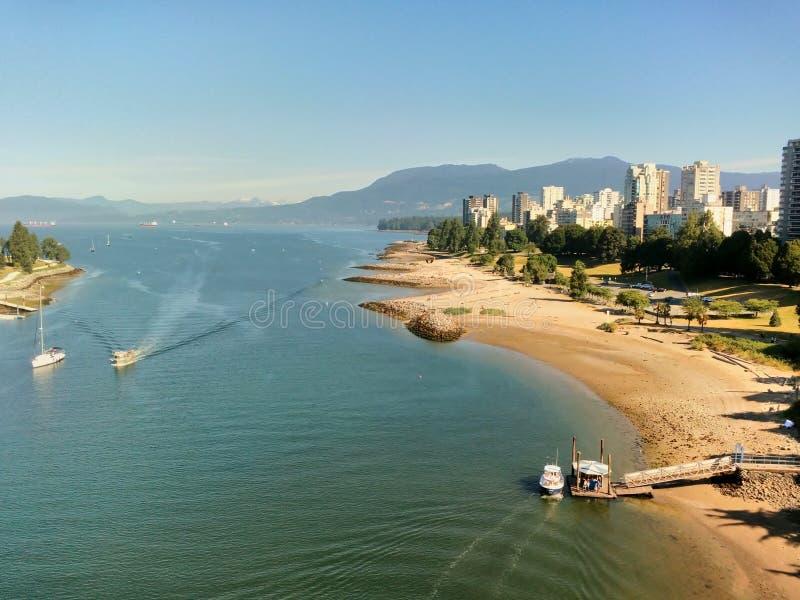 英吉利湾海滩和西部走向,温哥华,BC,加拿大 免版税库存照片