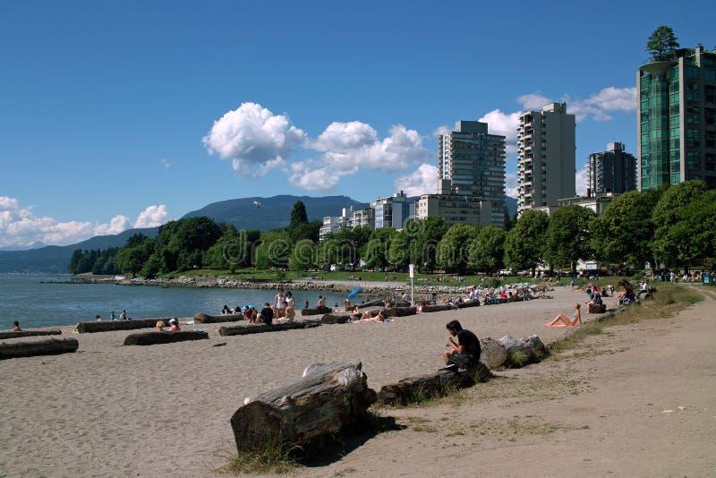 英吉利湾, BC温哥华,加拿大 库存照片