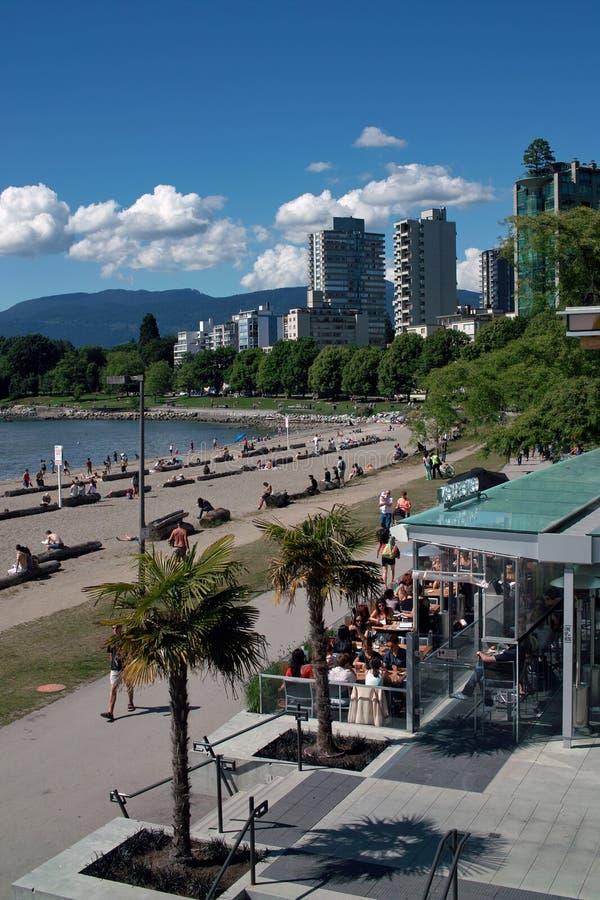 英吉利湾, BC温哥华,加拿大 库存图片