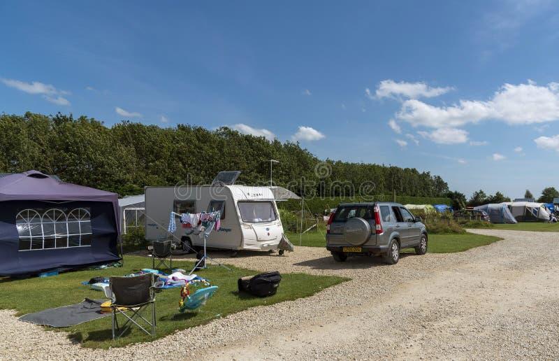 英国一个营地的克拉文 免版税库存图片
