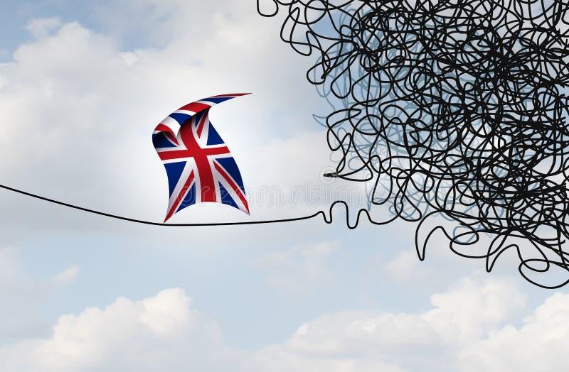 英国不确定性政治Brexit风险 库存例证